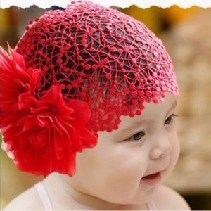 Other - Red Lace Girl's Headband